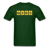 """NaH BrO"" - Men's T-Shirt forest green / S - LabRatGifts - 3"