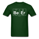"""BeEr"" - Men's T-Shirt forest green / S - LabRatGifts - 3"