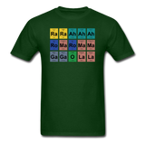 """Lady Gaga Periodic Table"" - Men's T-Shirt forest green / S - LabRatGifts - 3"