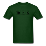"""ThInK"" (black) - Men's T-Shirt forest green / S - LabRatGifts - 13"