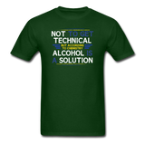 """Technically Alcohol is a Solution"" - Men's T-Shirt forest green / S - LabRatGifts - 4"