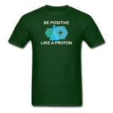 """Be Positive"" (white) - Men's T-Shirt forest green / S - LabRatGifts - 2"