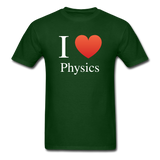 """I ♥ Physics"" (white) - Men's T-Shirt forest green / S - LabRatGifts - 4"
