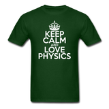 """Keep Calm and Love Physics"" (white) - Men's T-Shirt forest green / S - LabRatGifts - 7"