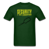 """Security E. Coli Laboratory"" - Men's T-Shirt forest green / S - LabRatGifts - 1"