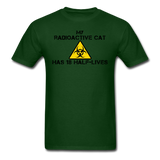 """My Radioactive Cat has 18 Half-Lives"" - Men's T-Shirt forest green / S - LabRatGifts - 13"