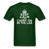 """Keep Calm and Carry On in the Lab"" (white) - Men's T-Shirt forest green / S - LabRatGifts - 7"