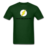 """Faster Than 186,282 MPS"" - Men's T-Shirt forest green / S - LabRatGifts - 14"