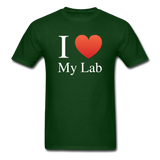 """I ♥ My Lab"" (white) - Men's T-Shirt forest green / S - LabRatGifts - 4"