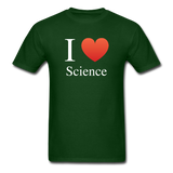 """I ♥ Science"" (white) - Men's T-Shirt forest green / S - LabRatGifts - 4"