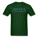 """-273.15 ºC is the Coolest"" (gray) - Men's T-Shirt forest green / S - LabRatGifts - 16"