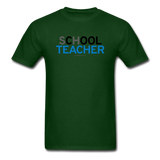 """sChOOL Teacher"" - Men's T-Shirt forest green / S - LabRatGifts - 14"