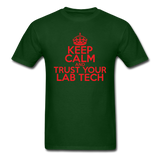 """Keep Calm and Trust Your Lab Tech"" (red) - Men's T-Shirt forest green / S - LabRatGifts - 8"