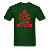 """Keep Calm and Love Physics"" (red) - Men's T-Shirt forest green / S - LabRatGifts - 8"