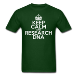 """Keep Calm and Research DNA"" (white) - Men's T-Shirt forest green / S - LabRatGifts - 7"