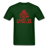 """Keep Calm and Carry On in the Lab"" (red) - Men's T-Shirt forest green / S - LabRatGifts - 8"