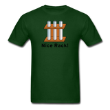 """Nice Rack"" - Men's T-Shirt forest green / S - LabRatGifts - 13"