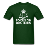 """Keep Calm and Focus On Bacteria"" (white) - Men's T-Shirt forest green / S - LabRatGifts - 7"