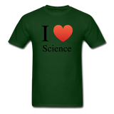 """I ♥ Science"" (black) - Men's T-Shirt forest green / S - LabRatGifts - 8"