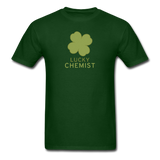 """Lucky Chemist"" - Men's T-Shirt forest green / S - LabRatGifts - 13"