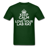 """Keep Calm and Love Your Lab Rat"" (white) - Men's T-Shirt forest green / S - LabRatGifts - 7"