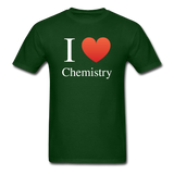 """I ♥ Chemistry"" (white) - Men's T-Shirt forest green / S - LabRatGifts - 4"