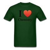 """I ♥ Chemistry"" (black) - Men's T-Shirt forest green / S - LabRatGifts - 9"