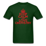 """Keep Calm and Love Chemistry"" (red) - Men's T-Shirt forest green / S - LabRatGifts - 8"