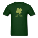 """Lucky Lab Tech"" - Men's T-Shirt forest green / S - LabRatGifts - 15"
