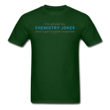 """Chemistry Jokes"" - Men's T-Shirt forest green / S - LabRatGifts - 15"