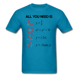 """All You Need is Love"" - Men's T-Shirt turquoise / S - LabRatGifts - 6"