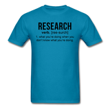 """Research"" (black) - Men's T-Shirt turquoise / S - LabRatGifts - 5"