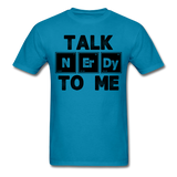 """Talk NErDy To Me"" (black) - Men's T-Shirt turquoise / S - LabRatGifts - 7"