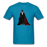 """Tall Darth and Handsome"" - Men's T-Shirt turquoise / S - LabRatGifts - 6"