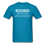 """Research"" (white) - Men's T-Shirt turquoise / S - LabRatGifts - 13"