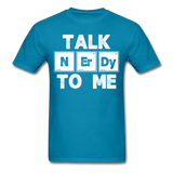 """Talk NErDy To Me"" (white) - Men's T-Shirt turquoise / S - LabRatGifts - 5"