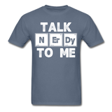 """Talk NErDy To Me"" (white) - Men's T-Shirt denim / S - LabRatGifts - 8"