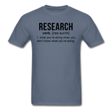 """Research"" (black) - Men's T-Shirt denim / S - LabRatGifts - 13"