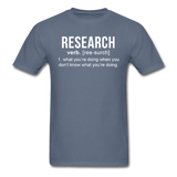 """Research"" (white) - Men's T-Shirt denim / S - LabRatGifts - 14"