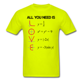 """All You Need is Love"" - Men's T-Shirt safety green / S - LabRatGifts - 8"