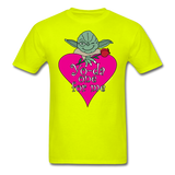 """Yo-da one for me"" - Men's T-Shirt safety green / S - LabRatGifts - 14"