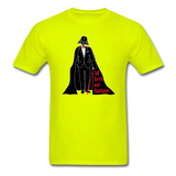 """Tall Darth and Handsome"" - Men's T-Shirt safety green / S - LabRatGifts - 8"