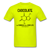 """Chocolate"" - Men's T-Shirt safety green / S - LabRatGifts - 9"