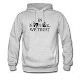 """In Science We Trust"" (black) - Men's Sweatshirt ash / S - LabRatGifts - 2"