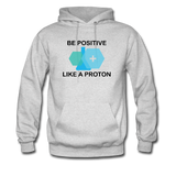 """Be Positive"" (black) - Men's Sweatshirt ash / S - LabRatGifts - 2"