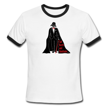 """Tall Darth and Handsome"" - Men's American Apparel Shirt white/black / S - LabRatGifts - 1"