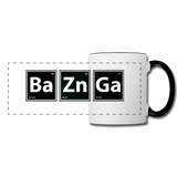 """BaZnGa"" - Panoramic Mug white/black / One size - LabRatGifts - 1"