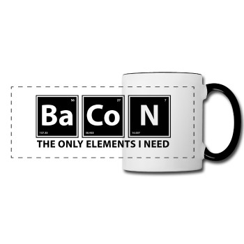 """BaCoN The Only Elements I Need"" - Mug white/black / One size - LabRatGifts - 1"