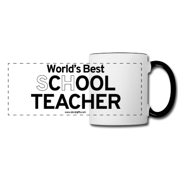 """World's Best sChOOL Teacher"" - Panoramic Mug white/black / One size - LabRatGifts - 1"