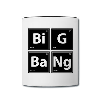 """BiG BaNg"" - Mug white/black / One size - LabRatGifts - 1"